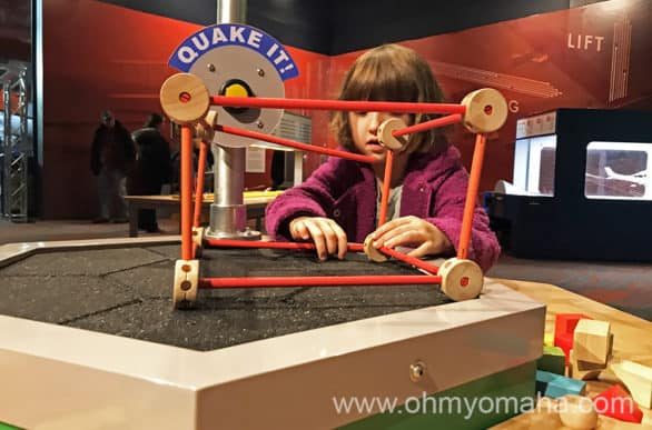 Children's Learning Center quake table at Strategic Air Command & Aerospace Museum in Nebraska