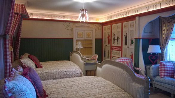 Inside a room at the Hotel Pattee in Perry, Iowa. The Hotel Pattee in Perry was built in 1913 and has 40 individually decorated and themed rooms, plus a bowling alley.