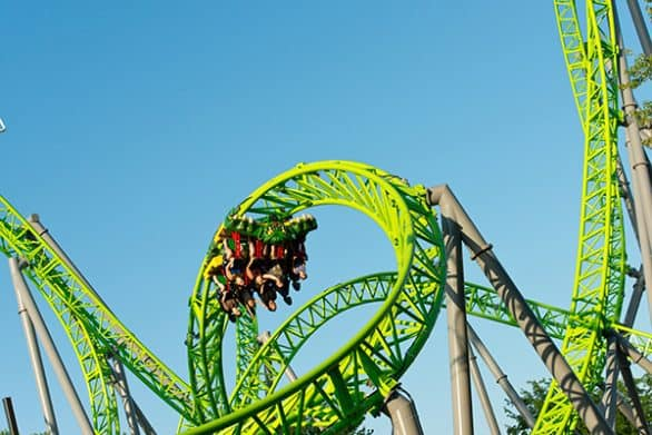Adventureland in Altoona, Iowa, is home to the only rollercoaster in the Western hemisphere with a negative-G loop.