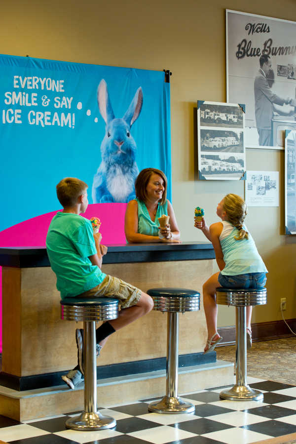 The ice cream parlor at Blue Bunny in Le Mars
