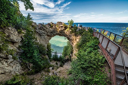 Things to see on Mackinac Island - Arch Rock