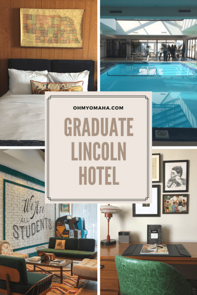 Visiting Lincoln, Nebraska with kids? Here's a family-friendly hotel located in the popular Haymarket district - The Lincoln Graduate. Read about how my family spent a weekend there! #familytravel #lincoln #Nebraska