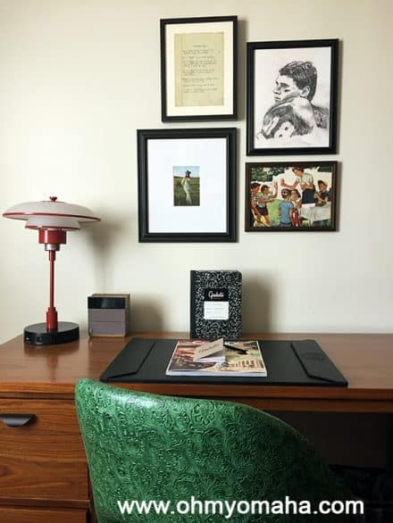 Simple touches in the room and lobby of Graduate Lincoln made it clear that thought went into the decor and tying things to Nebraska history and pop culture.