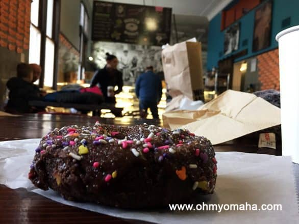 Sprinkle donut at Hurts Donut in Lincoln, Nebraska