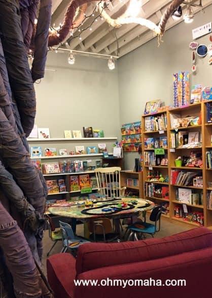 Kids area in the locally-owned Indigo Bridge Books & Cafe in Lincoln, Nebraska