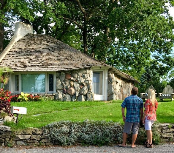 "There's a self-guided tour of the ""Mushroom Houses"" of Charlevoix, Michigan"
