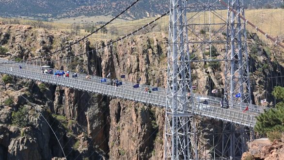 Crossing the bridge at Royal Gorge offers families quite a view.
