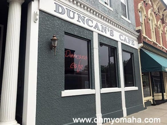 Good restaurants in Council Bluffs - Duncan's Cafe in downtown Council Bluffs
