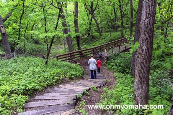 A hike in the late spring at Stone State Park in Sioux City, Iowa.