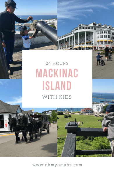 There's so much you can do with kids when you're on Mackinac Island! Here's a guide to getting the most out of 24 hours on this Michigan island. #familytravel #itinerary