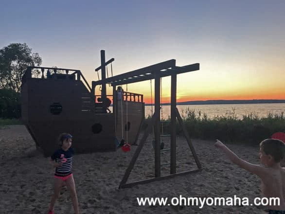 Pirate ship playground at Cherry Tree Inn & Suites in Traverse City