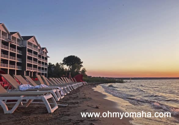 Pretty sunset at Cherry Tree Inn & Suites in Traverse City