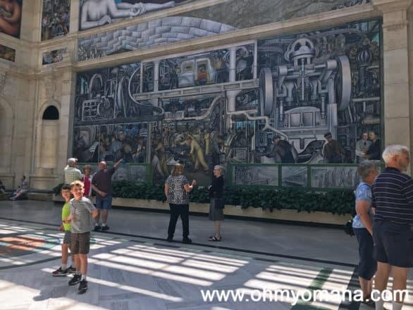 Diego Rivera artwork at Detroit Institute of Arts