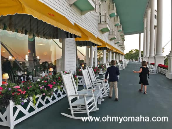 Porch at Grand Hotel on Mackinac Island