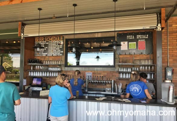 Outdoor bar at Filling Station in Traverse City, Michigan