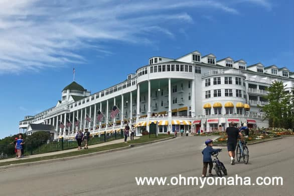 Road leading up to Grand Hotel on Mackinac Island