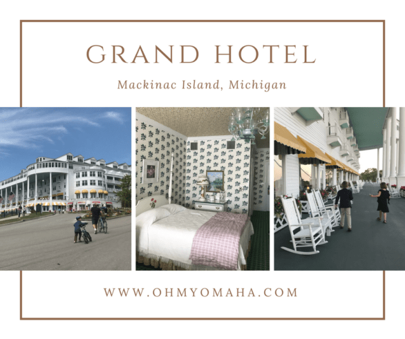 Family vacation at the Grand Hotel on Mackinac Island, Michigan USA