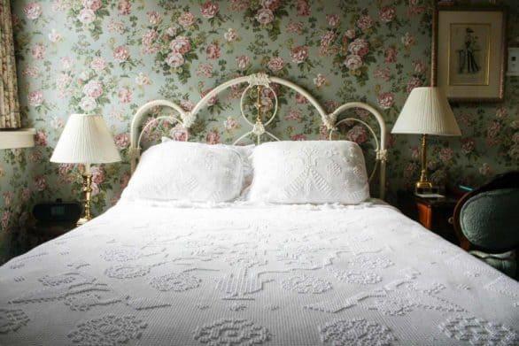 Hotel room at the Hotel Boulderado in Boulder, Colorado