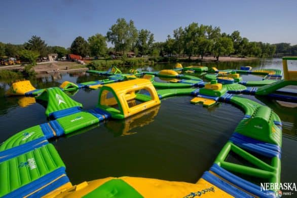 Louisville State Recreation Area floating playground is the first of its kind in Nebraska