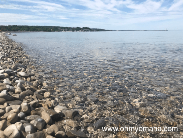 Clear water lake front in Petoskey, Michigan