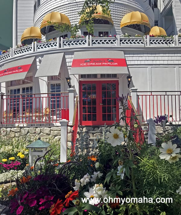 Where to eat on Mackinac Island - The Grand Hotel had several restaurants, including Sadie's Ice Cream Parlor