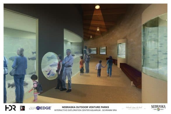 Artist rendering the the Schramm Park interactive exploration center