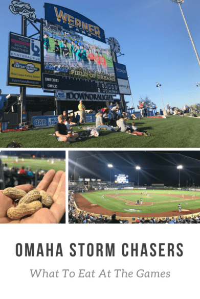 Headed to a game at Werner Park in Omaha? Here are food tips from Omaha Storm Chaser fans! #baseball #stormchasers #baseballfood