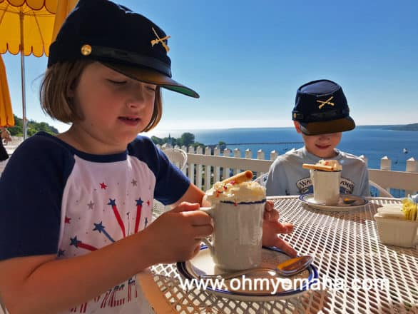 Tea Room, the outdoor cafe at Fort Mackinac