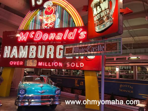 Neon signs at The Henry Ford in Dearborn, Michigan.  We dined at the restaurant Lamy's Diner located in the lunch car behind these iconic neon signs at The Henry Ford.