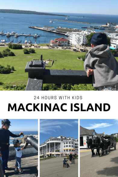 24-hour itinerary for families visiting Mackinac Island in Michigan's Upper Peninsula. Includes activity and dining recommendations. #Michigan #USA #familytravel #triptips
