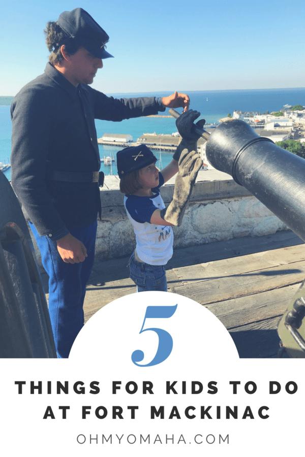 Fun things for kids to do at this historic Fort Mackinac #Michigan #MackinacIsland #familytravel #familyvacation #travel