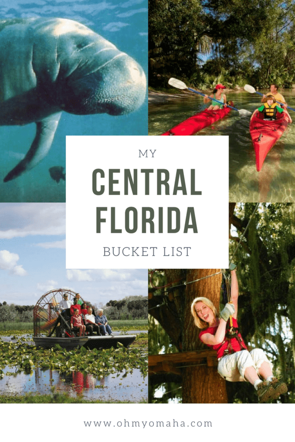 Ultimate bucket list of things do to in Central Florida, including ziplines, kayaking, beach destinations & more #Florida #outdoors #adventure #vacation