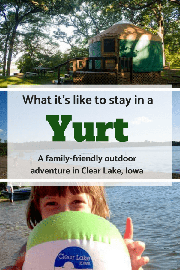 Yurts are one step above camping and one step below a cabin. Here's what it was like to stay in one near a lake in Iowa. #outdoors #camping #familytravel #familyvacation