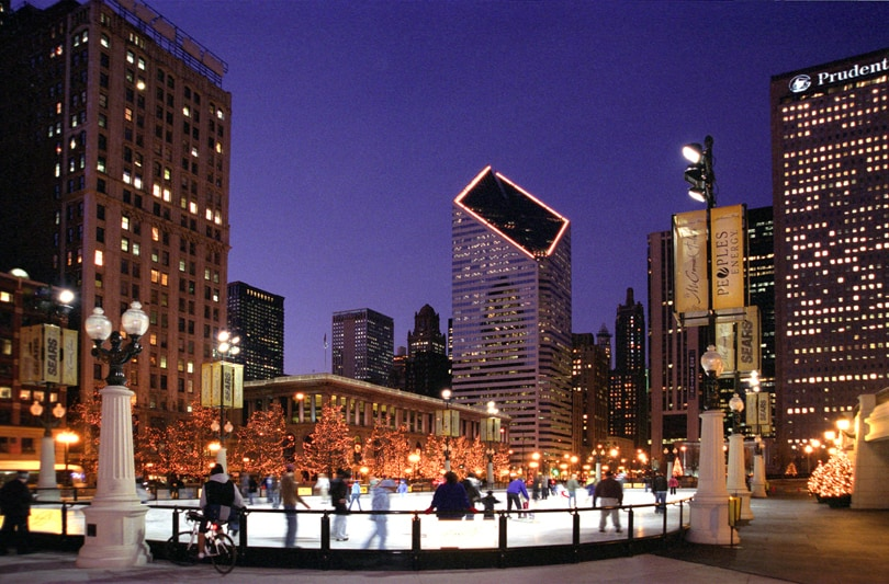 McCormick Tribune Ice Rink at Millennium Park in Chicago