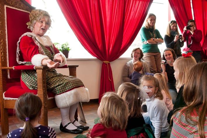 Christmas celebrity sighting: Mrs. Claus at Wonderland Express at Chicago Botanic Garden.