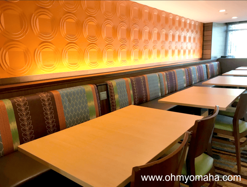 Dining area of Fairfield Inn & Suites, a hotel near Detroit Michigan