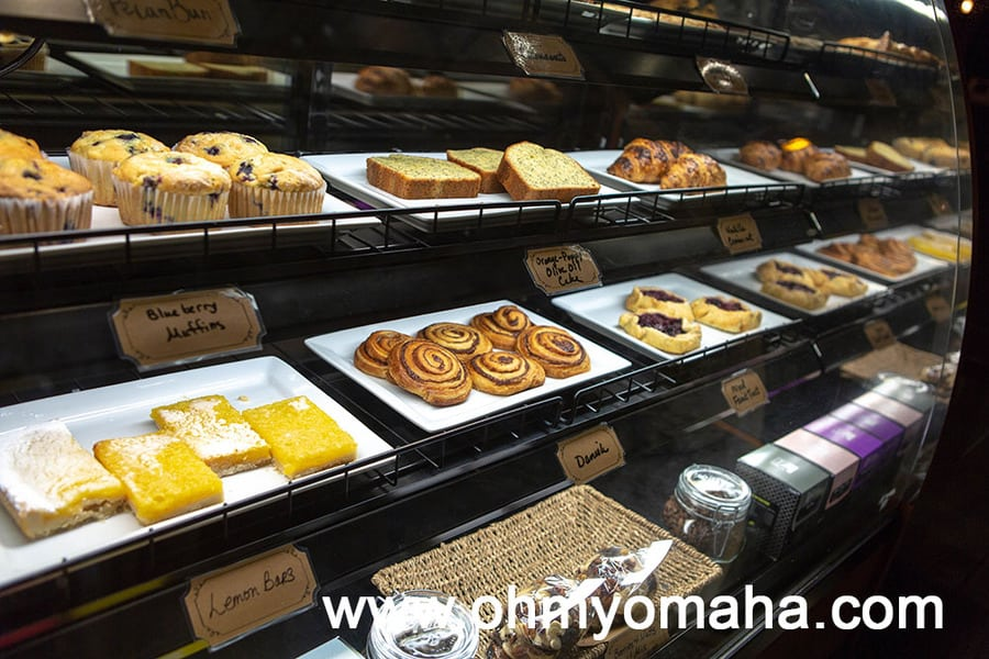 The pastries display at The Cafe located just near the main entrance to The Elms.