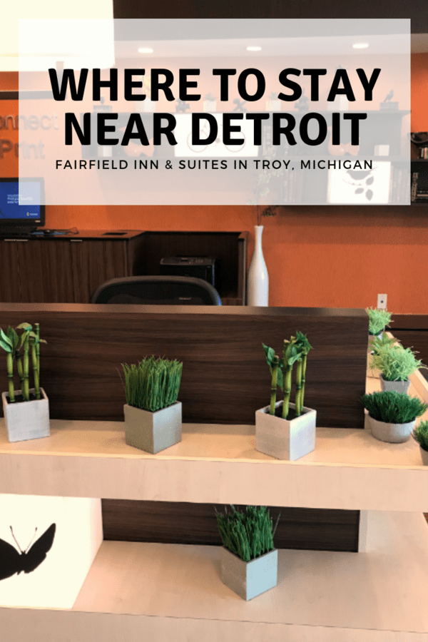 Looking for a family-friendly hotel outside Detroit, Michigan? Here's what I thought of Fairfield Inn & Suites in Troy, a hotel located near the Detroit Zoo #familytravel