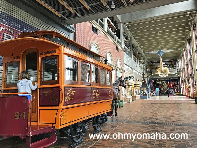 Streetcar inside Grand Rapids Public Museum