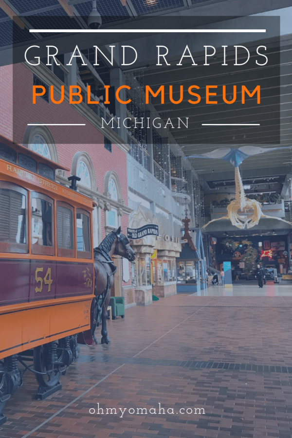 Grand Rapids Public Museum was a hit with kids and adults - History, hands-on exhibit pieces, and a carousel #familytravel #Michigan