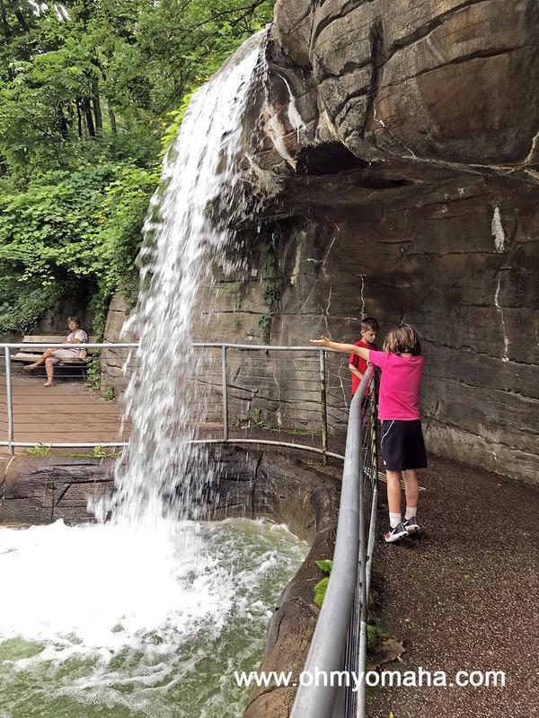 Waterfall at the John Ball Zoo in Grand Rapids, Michigan