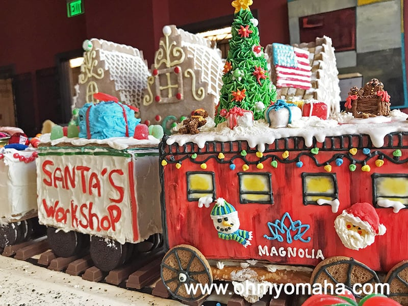 Gingerbread train at Magnolia Hotel in Omaha