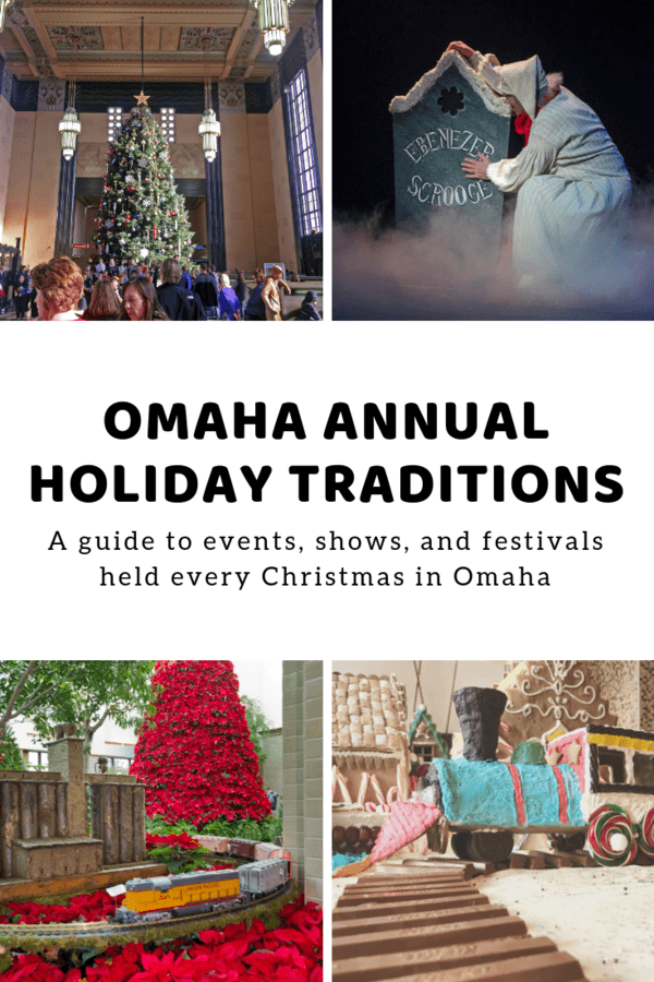 Round up of annual holiday events, shows, and festivals in Omaha. These are events you can plan on if you're visiting for the first time or you want to start a holiday tradition.  #Christmas #Santa #holidays