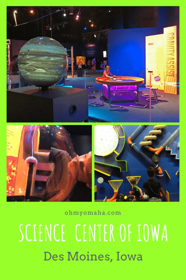 Looking for a fun thing to do indoors with kids in Des Moines? The Science Center of Iowa was great for a few hours of playing and learning. #Iowa #sciencecenter