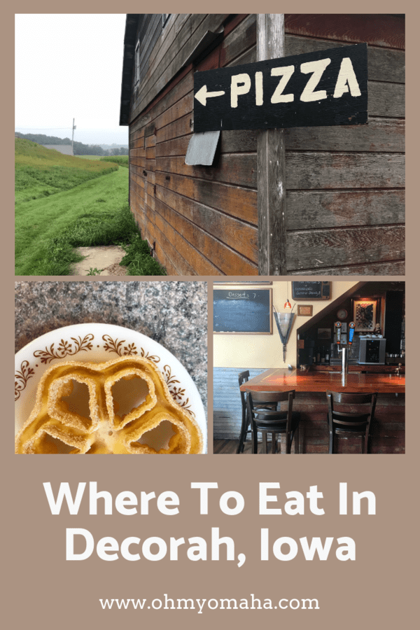 Restaurant and brewery suggestions for Decorah, Iowa including pizza at Luna Valley Farm, beer at Pulpit Rock Brewing Co., and two places for breakfast #hosted #dining #Iowa