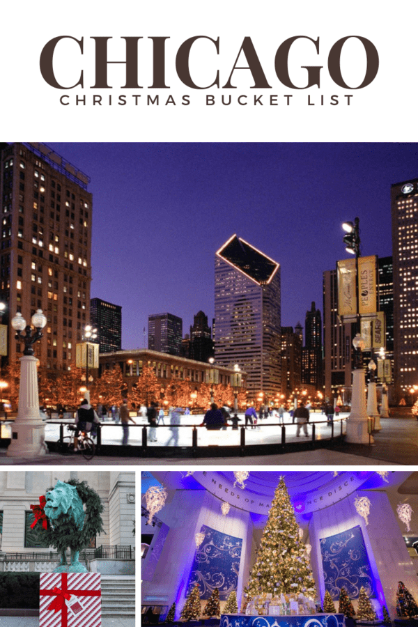 The Chicago Christmas Bucket List of shows to see, annual traditions, restaurants that get decked for the holidays, and winter activities. Use this wish list of things to do to plan a visit to Chicago in November or December.