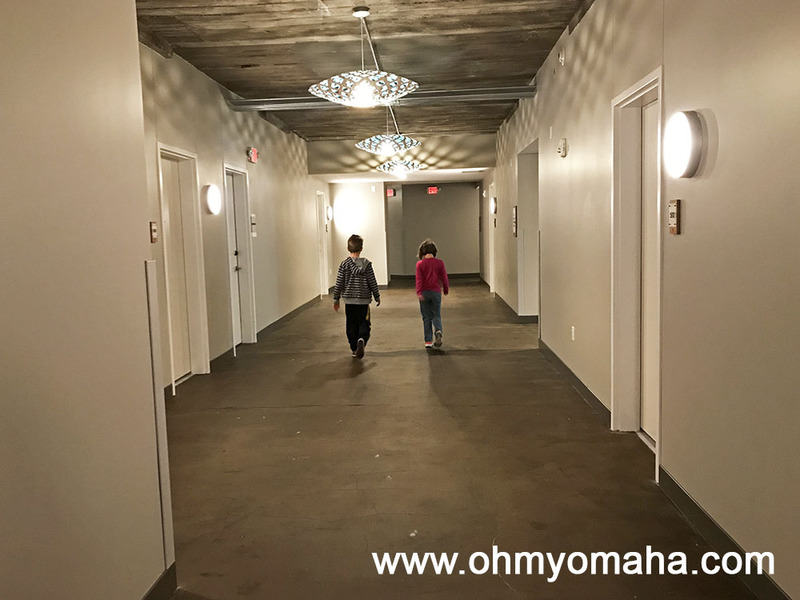 Hallway at the Element Moline in Illinois