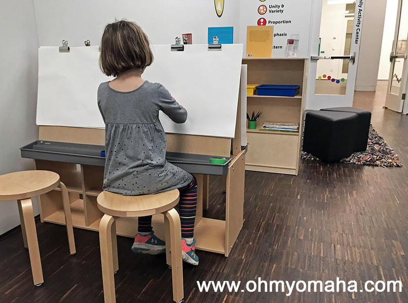 Drawing space at the Family Activity Center in the Figge Art Museum in Davenport, Iowa