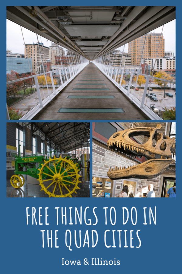 Fun things to do that don't cost a thing in the Quad Cities in Iowa and Illinois #familytravel #visitquadcities