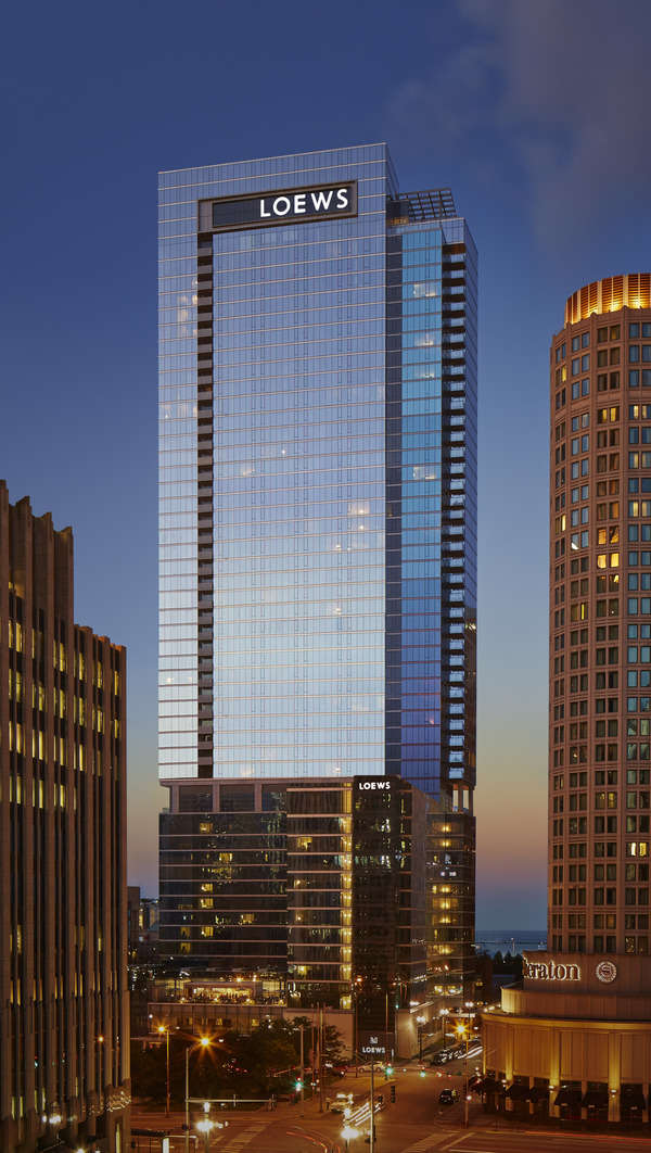 Loews Chicago is a hotel near Navy Pier, Michigan Avenue shops, and a ton of restaurants.